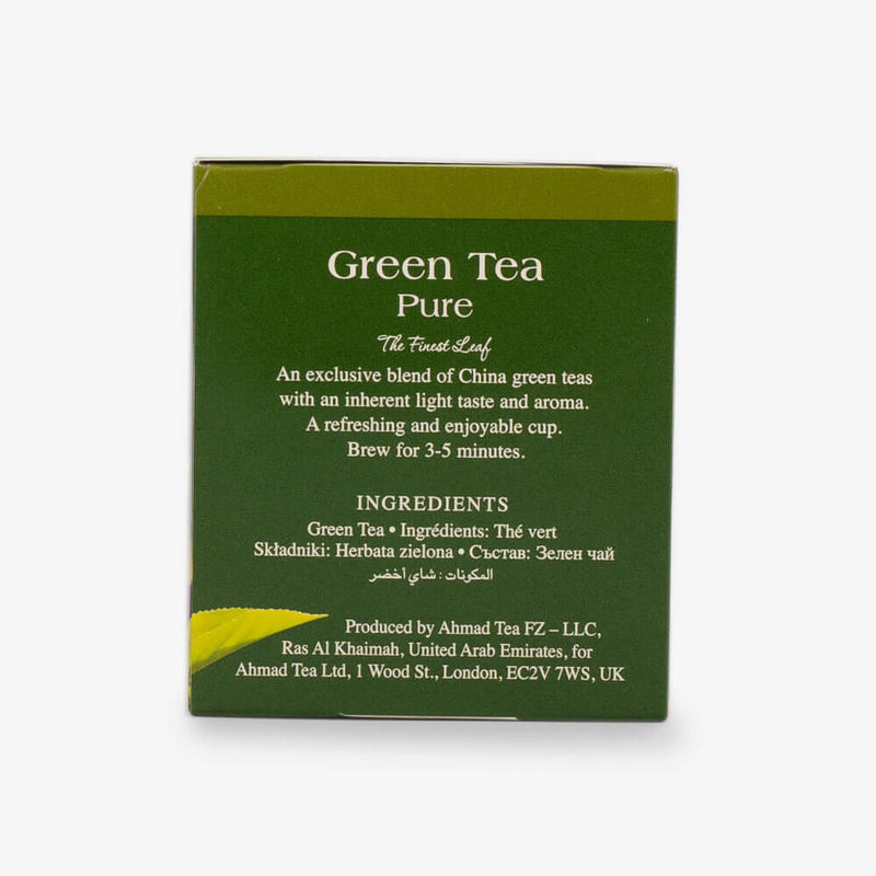 Tea Chest Four Caddy - Side of Green Tea Pure box