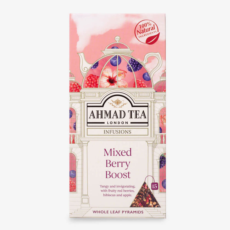 Mixed Berry Boost - 15 Pyramid Teabags
