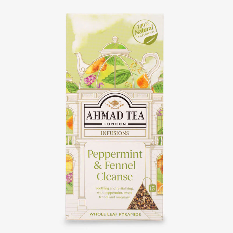 Peppermint & Fennel Cleanse - 15 Pyramid Teabags