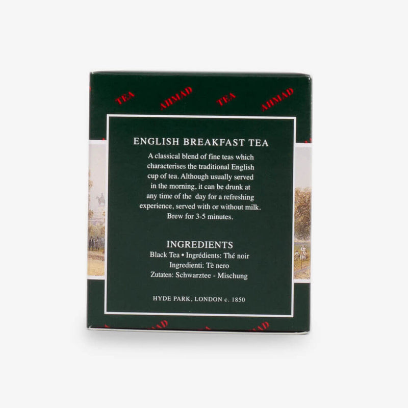English Tea Selection of 3 Black Tea - English Breakfast from side