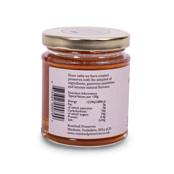 Rosebud Preserves Yorkshire Honey - Side of jar