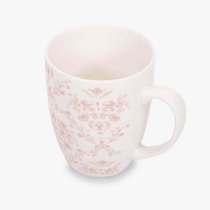 Ahmad Tea Porcelain Floral Mug in Rose Gold - Inside of mug