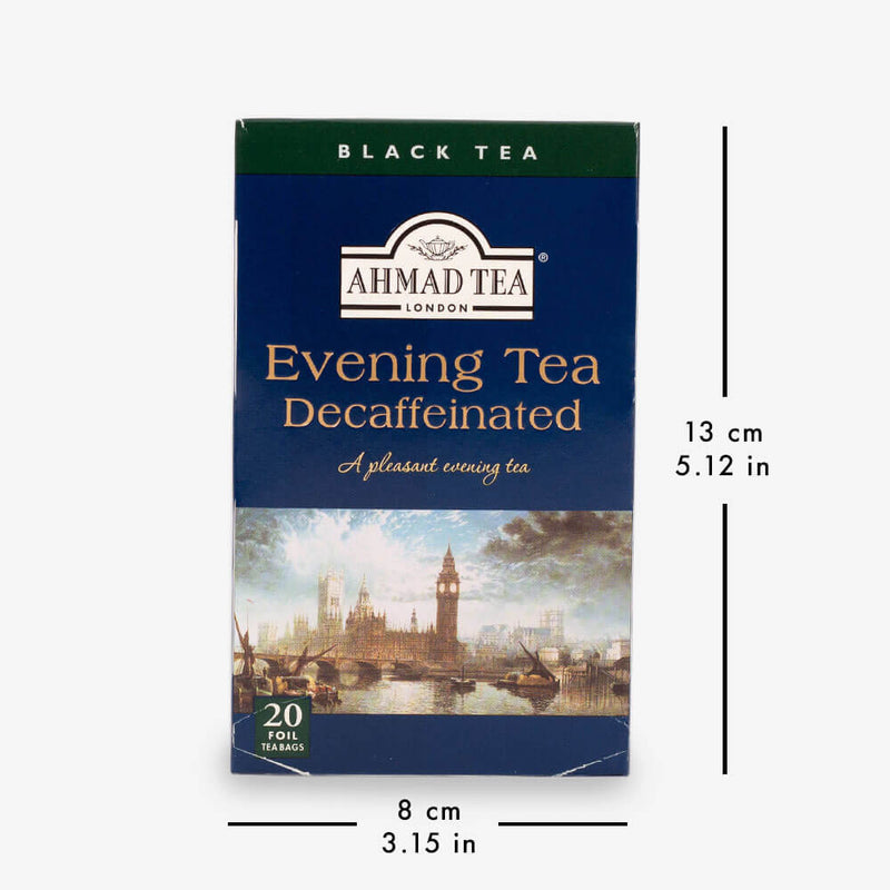 6 Packs of 20 Teabags - Box with dimensions