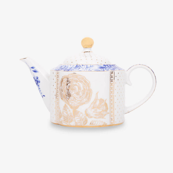 Pip Studio Royal White Collection Teapot (Small) - Front of teapot