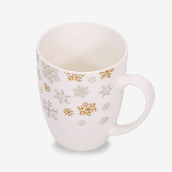 Ahmad Tea Christmas Snowflake Mug - Inside of mug