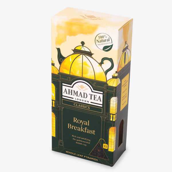 15 Pyramid Teabags - Side angle of box