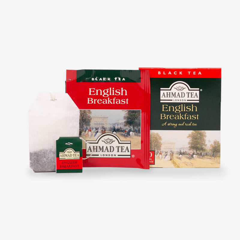 Tea Chest Four Caddy - English Breakfast box, envelope and teabag
