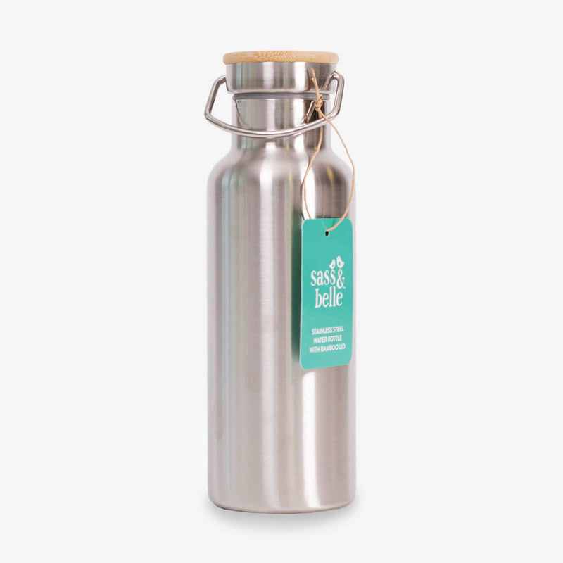 Sass & Belle Stainless Steel Water Bottle - Bottle and tag