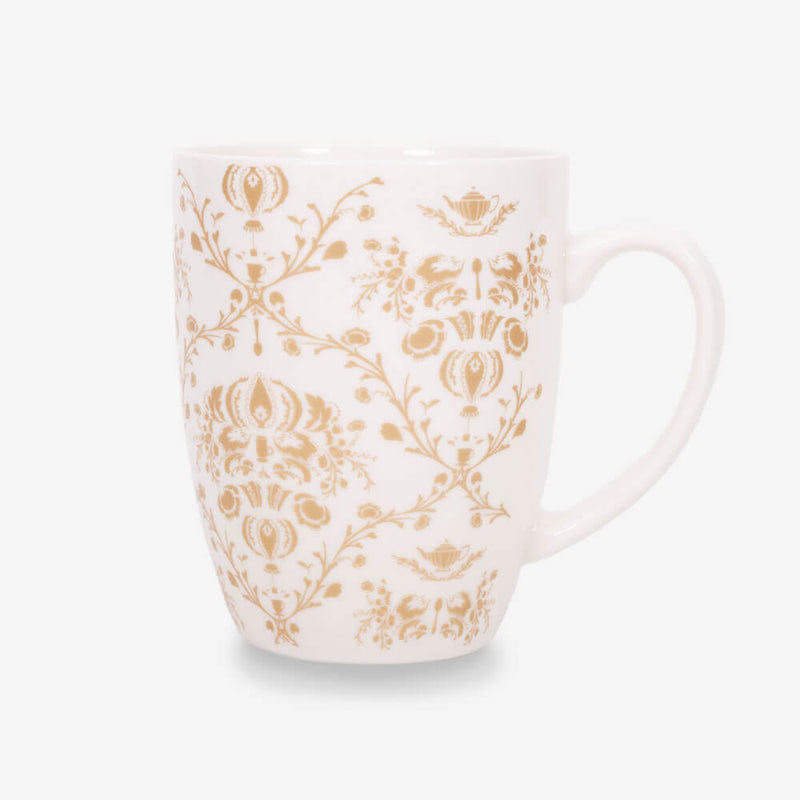 Ahmad Tea Porcelain Floral Mug in Gold (colours may vary)