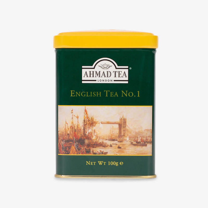 6 Packs of 100g Loose Tea Caddy from English Scene Collection - Front of caddy