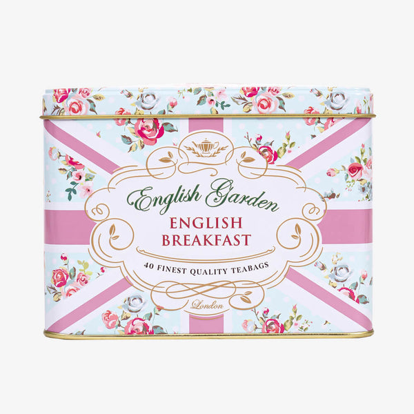 English Breakfast Tea in English Garden Caddy - Front of caddy