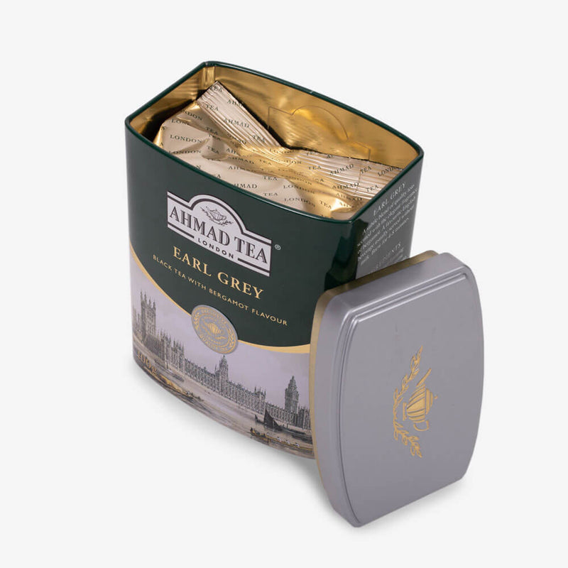 100g Loose Tea Caddy from English Scene Collection - Open caddy