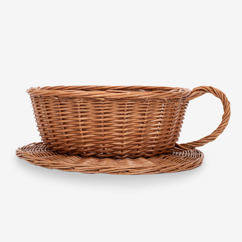 Wicker Teacup & Saucer Basket (Large)