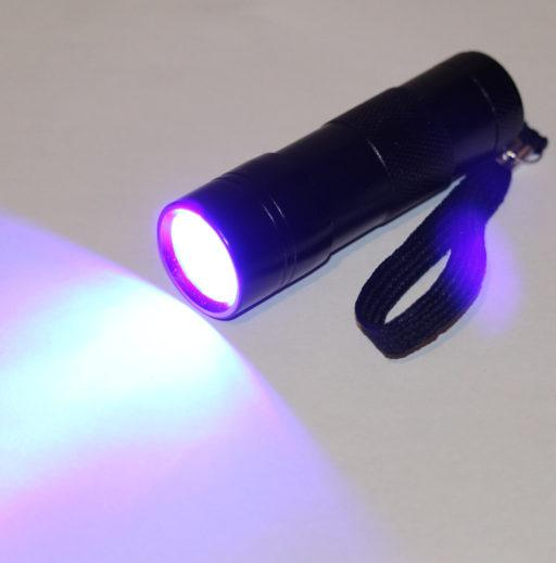 L.E.D. Ultra Violet Flashlight