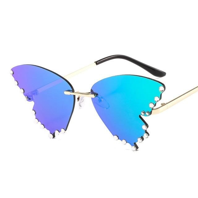 Rimless Butterfly Shades