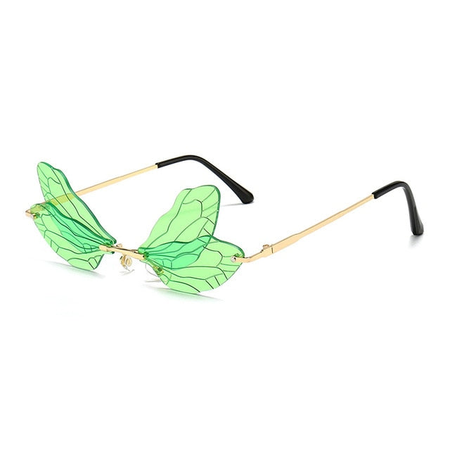 Rimless Dragonfly Shades