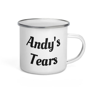 Andy's Tears Brewed Logo Enamel Mug | Brewed