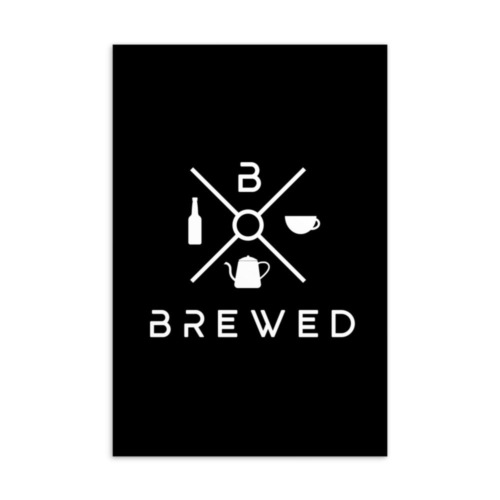 Brewed Logo Standard Postcard | Brewed