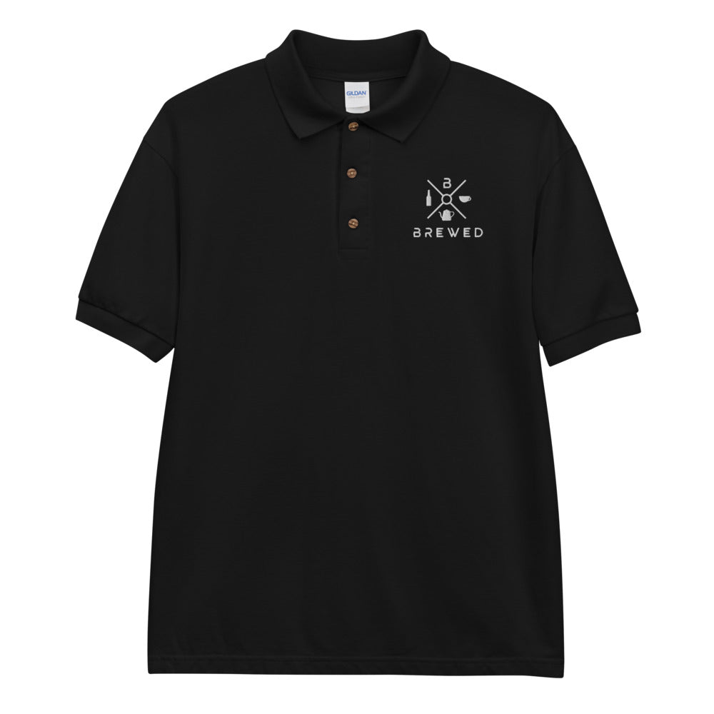 Brewed Logo Embroidered Polo Shirt | Brewed