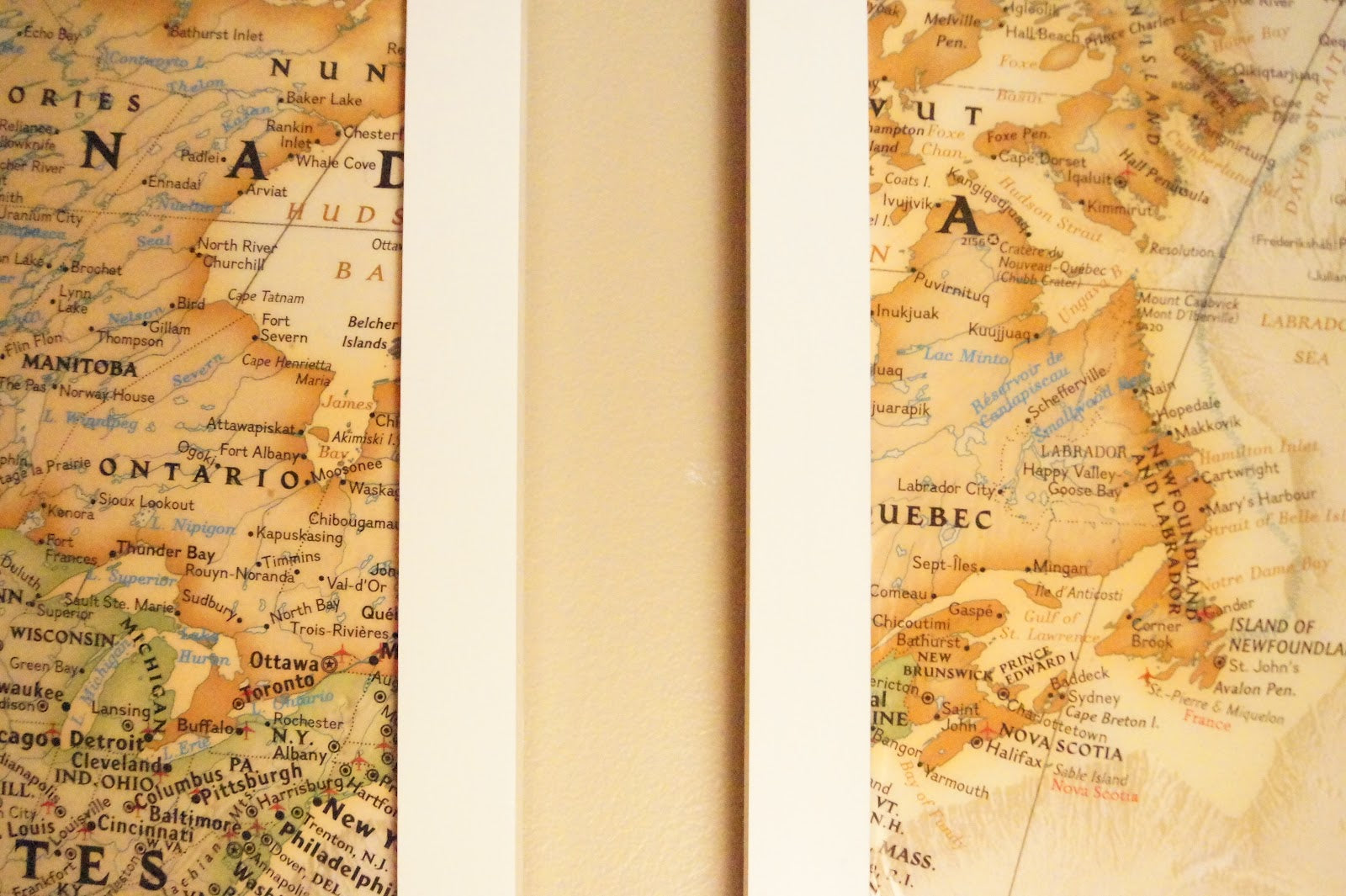 DIY (huge) Map Wall Art – Willful