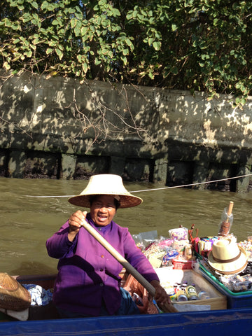 Bangkok women floating market