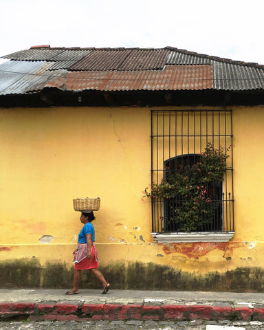 yellow wall antigua guatamala by araya jensen