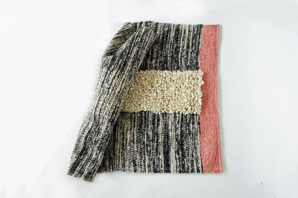 woven wool throw rug 2x3 by willful goods