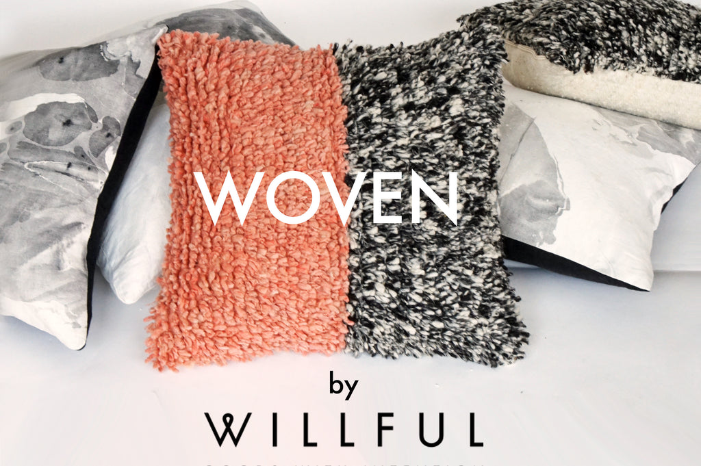 a new collection of woven wool goods from guatemala by Willful goods