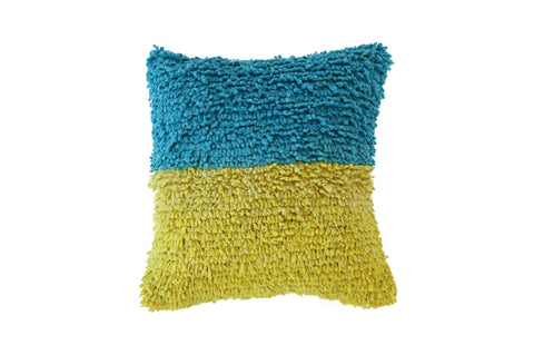 Allyn Woven Wool Shag Throw Pillow (5 color options)