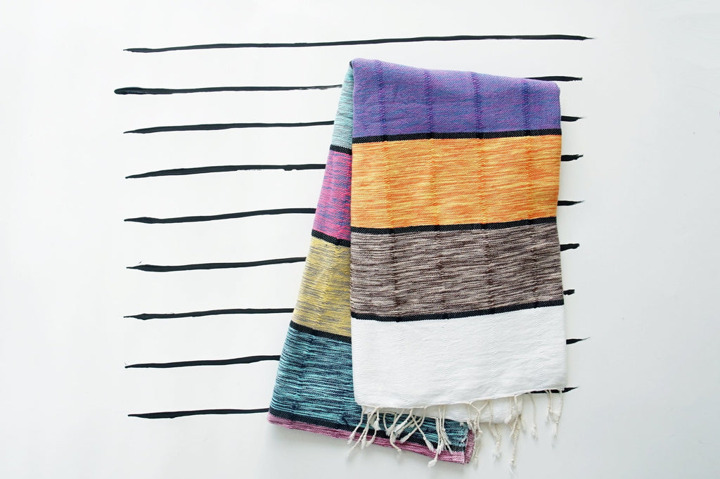 Multi-Stripe Turkish Towel