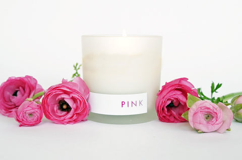 pink bergamot scented natural soy candle by willful goods