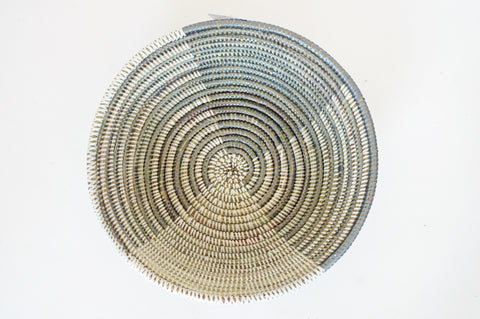pinwheel pattern woven basket from Senegal willful goods