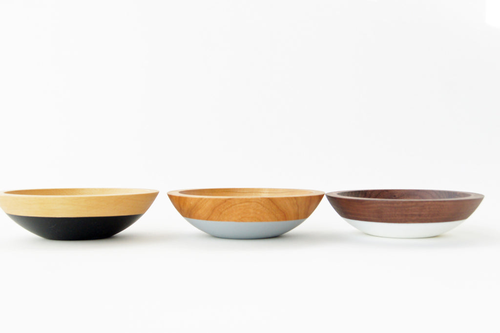 wooden snack bowls neutral set of 3 by Willful