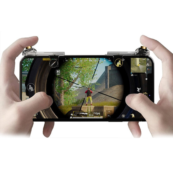 Plating Gold PUBG Mobile Phone Game Trigger Fire Button Gamepad Controller Button Linkage Gaming Joystick Aim Key Shooter