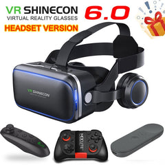 Original VR shinecon 6.0 Standard edition and headset version virtual reality 3D VR glasses headset helmets Optional controller