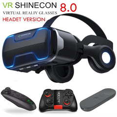 G02ED VR shinecon 8.0 Standard edition and headset version virtual reality 3D VR glasses headset helmets Optional controlle