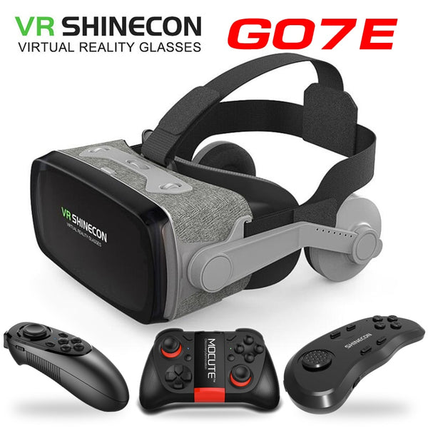 New game lovers VR Shinecon VR Virtual Reality Goggles 3D Glasses Google Cardboard VR Headset Box for 4.0-6.53 inch  Smartphone