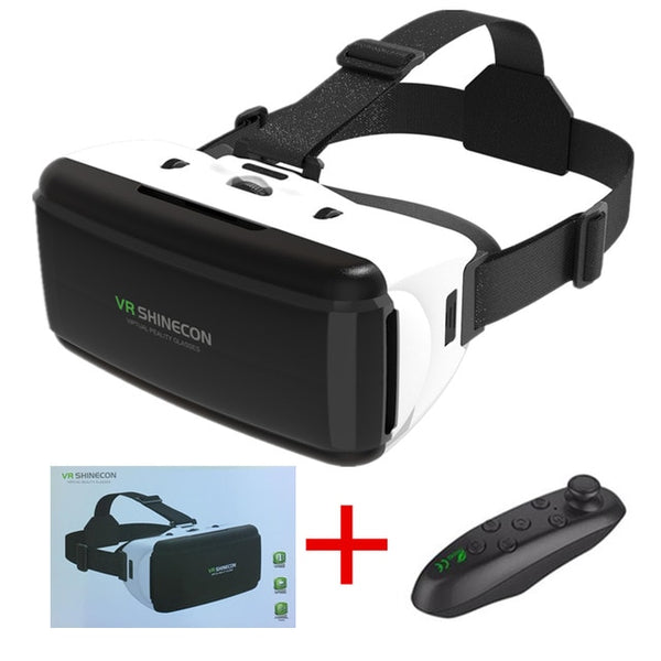 VR glasses Shinecon Pro Virtual reality 3D VR glasses Google Cardboard headset virtual glasses for smart phones ios Android 4-6.