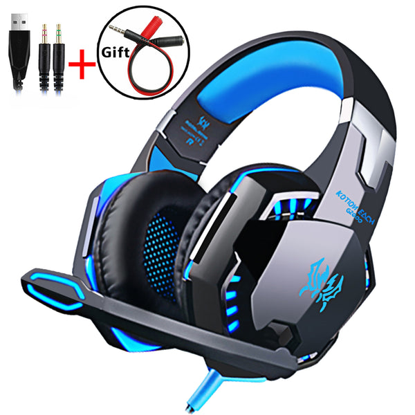Wired Gaming Headset Headphones Surround sound Deep bass Stereo Casque Earphones with Microphone For Game XBox PS4 PC Laptop