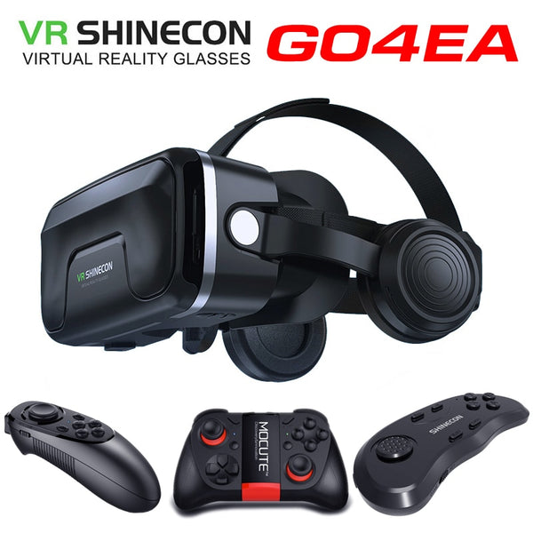 Game lovers Original VR shinecon headset upgrade version virtual reality glasses 3D VR glasses headset helmets Game box Game box