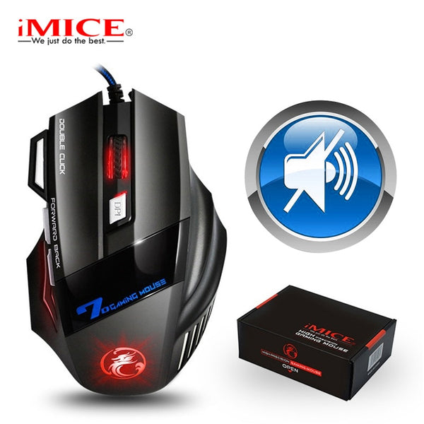 Gaming Mouse Gamer 7 Button 5500DPI Wired Ergonomic Mouse Led Mause Computer Mouse Silent USB PC Mice with Backlight for Laptop