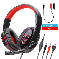 Good Quality on ear Headset Gamer Stereo Deep Bass Gaming Headphones Earphone With Microphone for Computer PC  Laptop Notebook