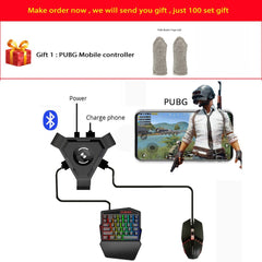 Kuulee PUBG Mobile Gamepad Controller Gaming Keyboard Mouse Converter for Android Phone to PC Bluetooth Adapter
