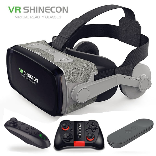 Casque Headset VR Shinecon Gerceklik Virtual Reality Glasses 3D Helmet Goggles 3 D Google Cardboard For Phone Smartphone Len