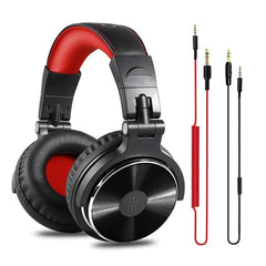 Oneodio Professional Studio DJ Headphones With Microphone Over Ear Wired HiFi Monitors Earphones Foldable Gaming Headset For PC