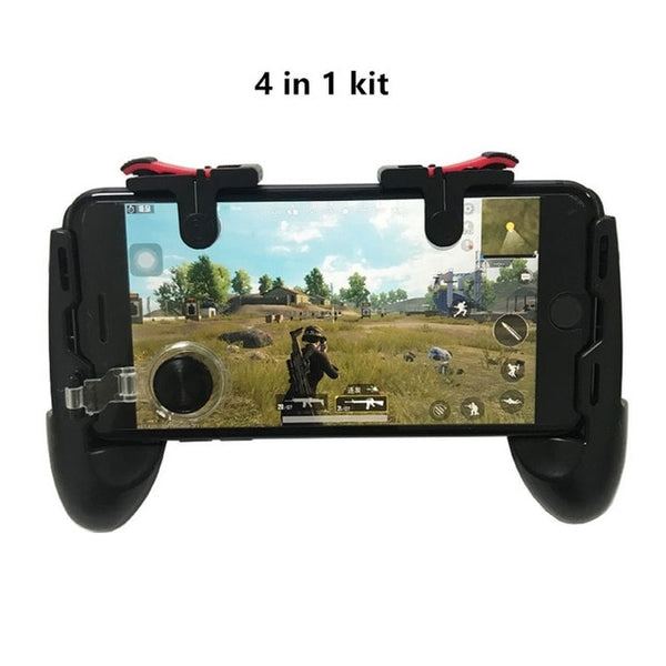 4 in 1 pubg mobile game controller Gamepad D9 Portable Mobile Game Pad Grip L1 R1 Triggers Joystick For iPhone Android Phone