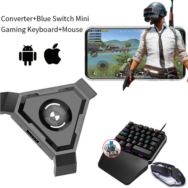 Gamepad Pubg Mobile Bluetooth 4.1 Android PUBG Controller Mobile Controller Gaming Keyboard Mouse Converter For IOS iPad to PC