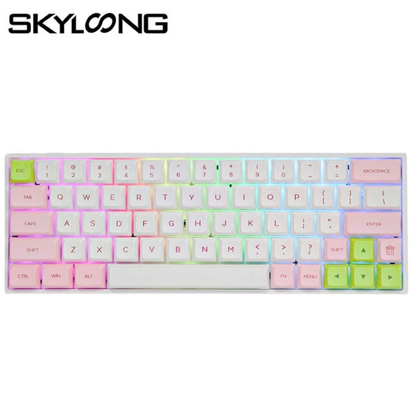 SKYLOONG SK64 Hot Swappable Mechanical Keyboard With RGB Backlit Wireless Bluetooth Gaming Keyboard ABS Keycaps For Win/Mac GK64