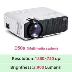 AUN MINI LED Projector D50/s|Support 4K (X96Q) Full HD 1080p Home Theater|3D Video Projector|Portable LED Projector for Outdoor