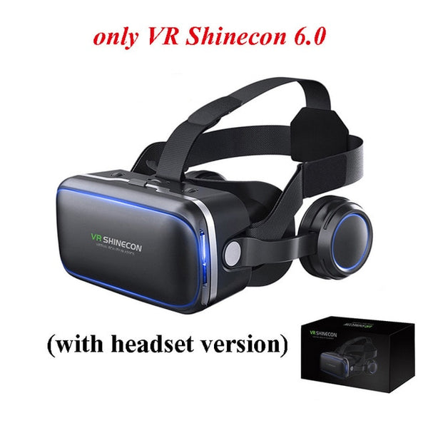 VR SHINECON 6.0 vr box 2.0 3d vr glasses virtual reality gafas goggles google cardboard Original bobo vr headset For smartphone